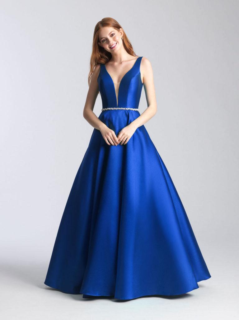 Madison James Royal Blue Prom Dress