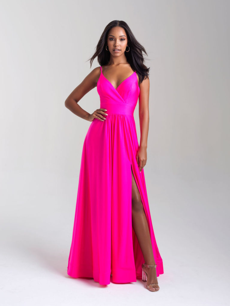 Madison James Hot Pink Prom Dress