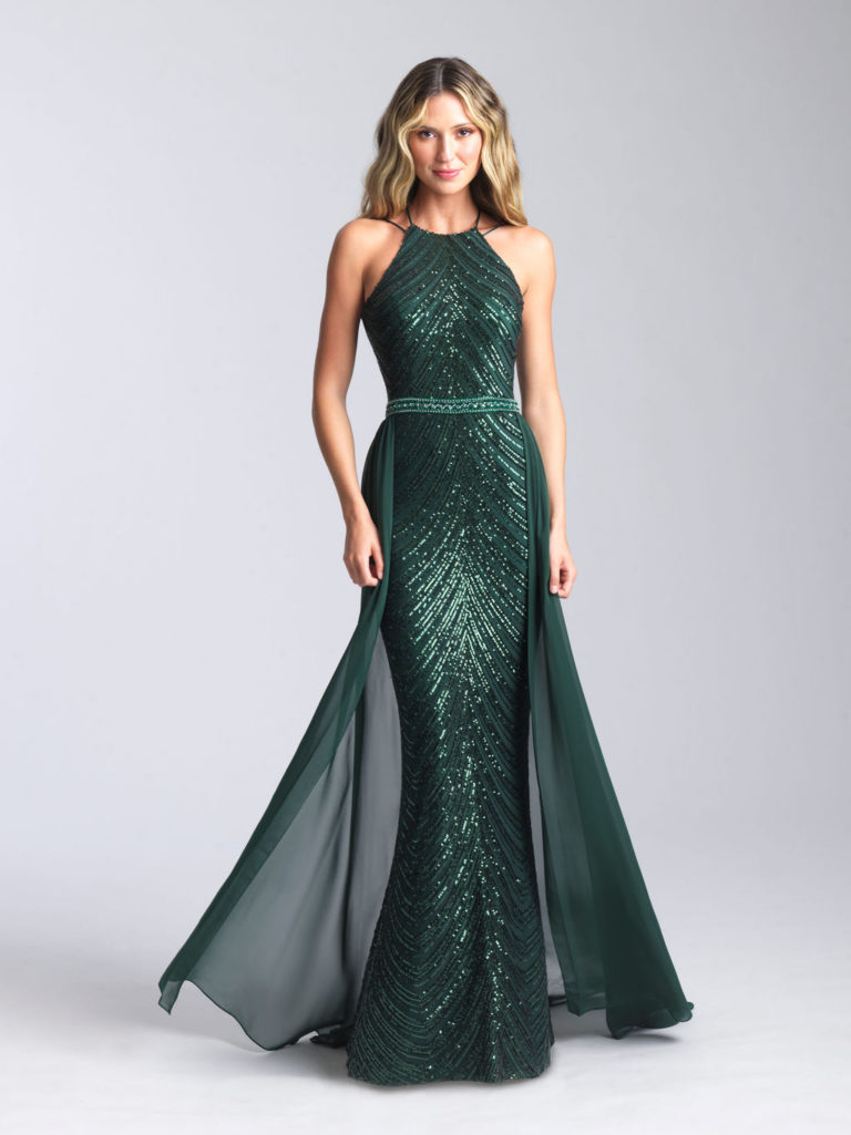 Madison James Green Prom Dress
