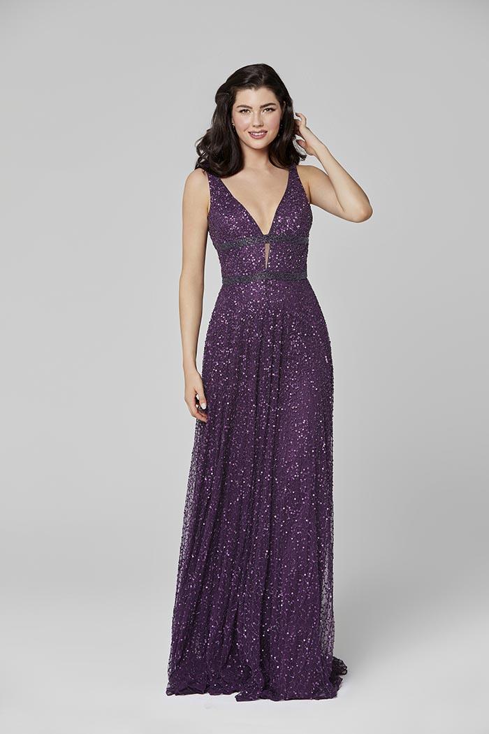 Primavera-3421-PLUM-Prom Dress