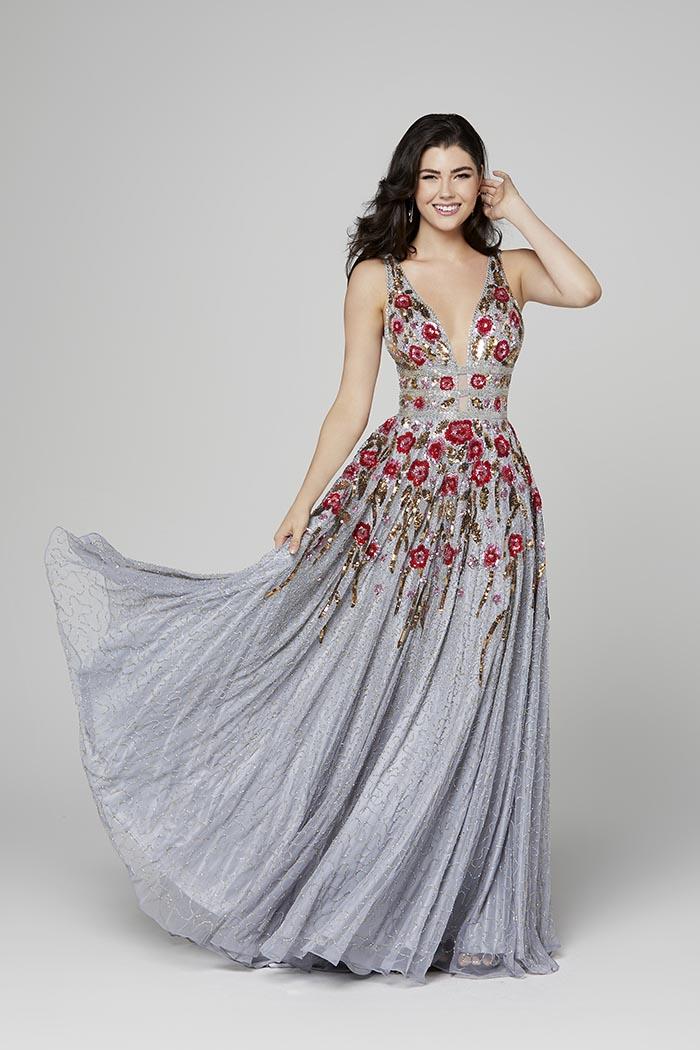 Primavera-3437-PLATINUM MULTI-Prom Dress