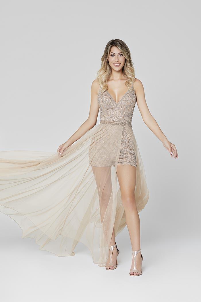 Primavera-3443-BEIGE-Prom Dress