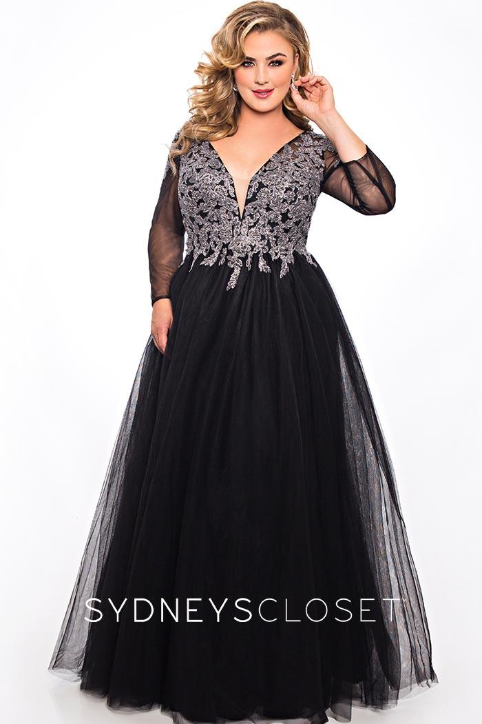 Sydneys Closet-Black Silver-Dress